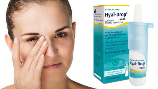Súťaž o očné kvapky Hyal Drop multi