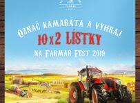 Súťaž o 10x dve vstupenky na Farmár Fest 2019