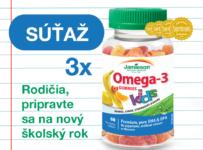 Súťaž o 3 balenia Jamieson Omega-3 Kids Gummies želatínové pastilky pre deti