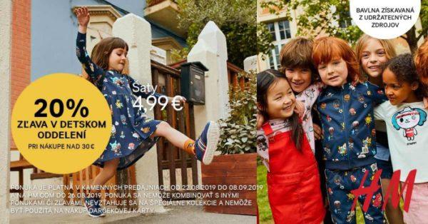 Súťaž o 3 darčekové poukážky v hodnote 30€ do H&M