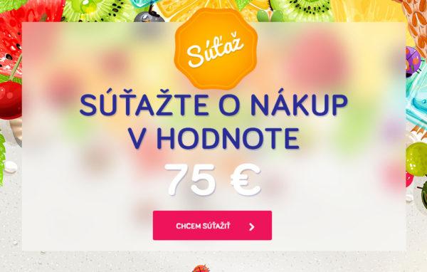 Súťaž o nákup v hodnote 75 euro