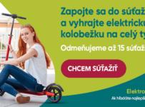 Súťaž s Voltride.sk o elektrickú kolobežku na týždeň