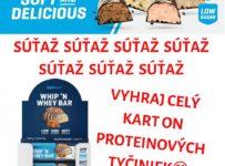 Súťaž o kartón proteínových tyčiniek Whip&Whey Bar