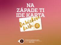 Súťaž o platobnú Darčekovú kartu Bory Mall s kreditom 100 Eur