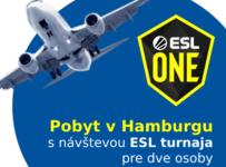 Súťaž o pobyt v Hamburgu s návštevou ESL turnaja pre dve osoby