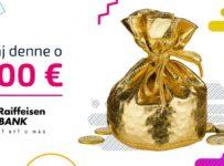 Hrajte denne o finančnú hotovosť 200 € od Raiffeisen banky