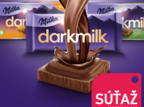 Súťaž o 3 čokolády Milka darkmilk
