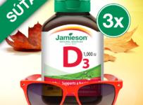 Súťaž o 3x Jamieson Vitamín D3 1000 IU