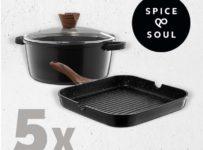 Súťaž o 5 x grilovaciu panvicu a hrniec značky Spice & Soul®