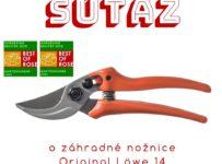 Súťaž o záhradné nožnice prémiovej kvality Original Löwe 14
