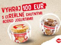 Vyhraj 100 EUR s ceREÁLNE chutnými Acidko jogurtami