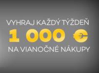 Vyhraj 1000 EUR na Vianočné nákupy