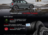 Kúpte si 4 pneumatiky a vyhrajte MINI Cooper