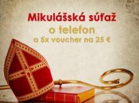 Mikulášska súťaž o iPhone 7 32GB a 5x voucher v hodnote 25€