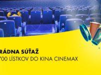 Súťaž o 700 lístkov do siete kín CINEMAX