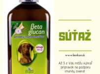 Súťaž o pol litrovú fľašu Beta glucan sirupu pre zviera