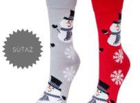 Súťaž o vianočné snehuliakové ponožky
