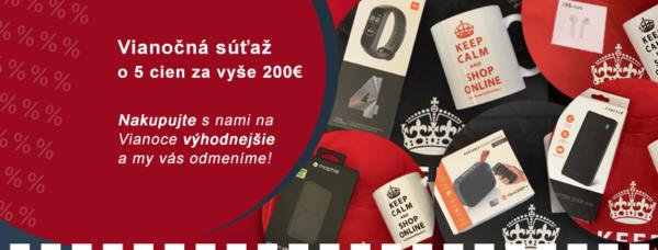 Vianočná súťaž o 5 cien za vyše 200€ s KuponyZdarma.sk
