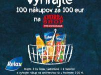 Vyhrajte 100 nákupov za 100 eur na andreashop.sk