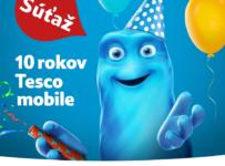 Súťaž 10 rokov Tesco mobile o iPhone 6S a 100x SIM s kreditom