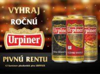 Súťaž o 12 kartónov plechoviek piva URPINER podľa vlastného výberu