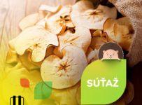Súťaž o sušené jabĺčka pre troch výhercov