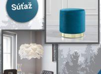 Súťaž o taburet Julen v modrej farbe a závesné svietidlo Tania