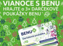 Vianoce s BENU, hrajte o darčekové poukážky v hodnote 10 €
