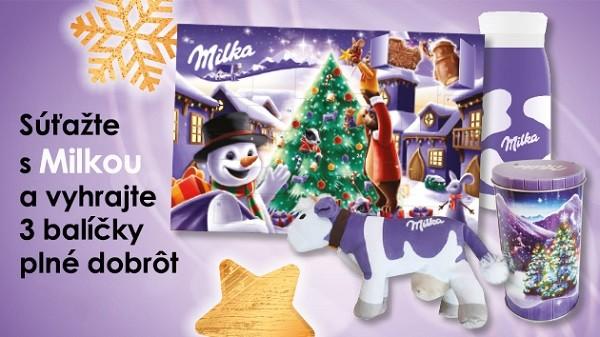 Zapojte sa do vianočnej súťaže s Milkou
