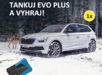 Natankujte 30L EVO Plus a vyhrajte Škoda Kamiq alebo palivovú kartu
