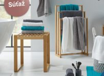 Súťaž o štýlový držiak na uteráky a taburet zo série Mirella od Möbelix
