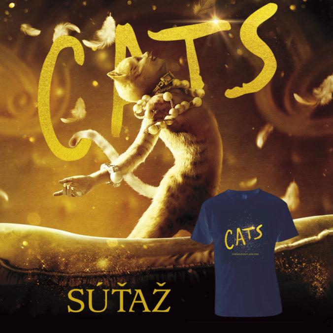 Súťaž s filmom Cats o 3x tričko s motívom filmu