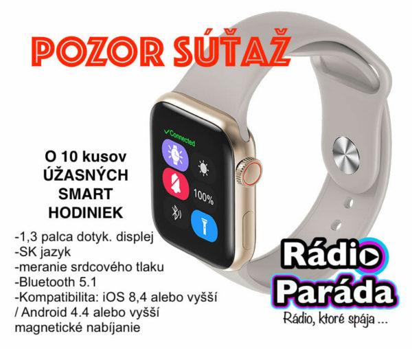 Súťažte o 10 SMART hodiniek a podporte projekt Rádia Paráda