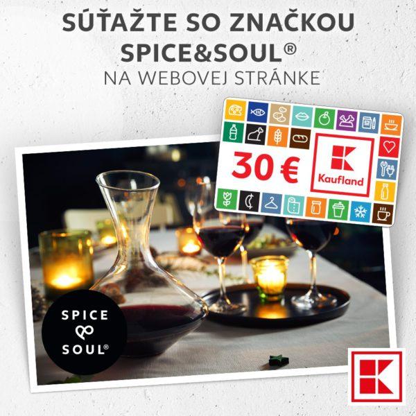 Súťaž o 5x štýlový dekantér (karafu) značky Spice&Soul