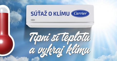 Súťaž s KLIMADODOMU.SK o klimatizáciu CARRIER 3,5kW