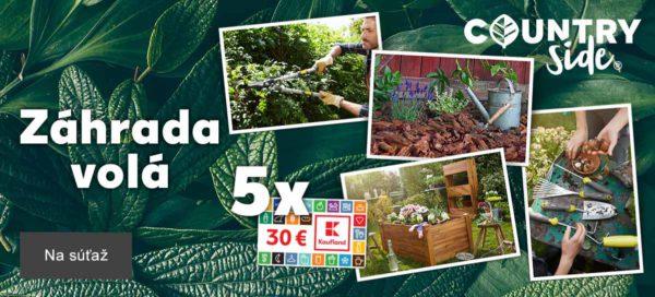 Súťaž so značkou Countryside® o poukážky v hodnote 30 eur