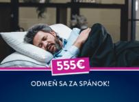 Súťaž Sedmospáč, vyhraj 555€ za spánok od Dormeo