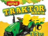 Súťaž o 33x detský elektrický traktor značky Peg-Pérego