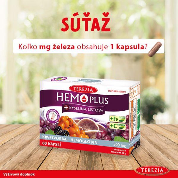 Súťaž o HEMO PLUS na podporu krvotvorby