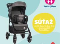 Súťaž o kočík Easy Carbon Grey z novej kolekcie 2020 od Petite&Mars