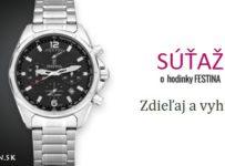 Súťaž o pánske hodinky Festina