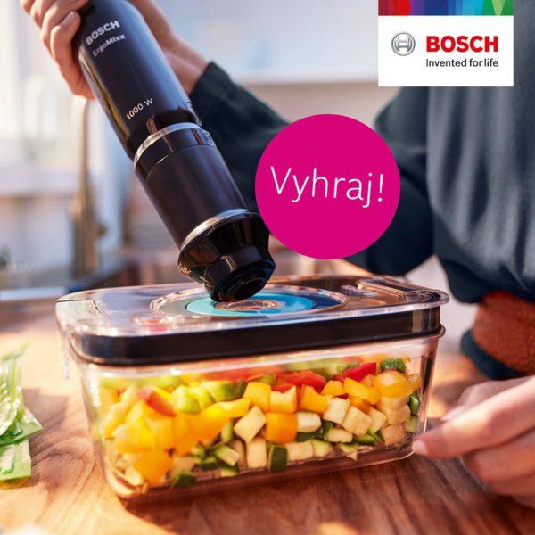 Súťaž o tyčový mixér Bosch ErgoMixx Fresh s vákuovacím nádstavcom