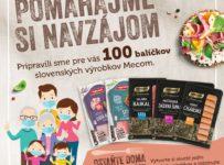 Súťaž o 100 balíčkov slovenských produktov Mecom