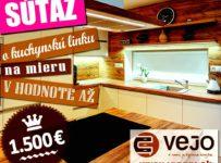Súťaž o dizajnovú kuchynskú linku na mieru v hodnote 1000 €