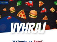 Súťaž o kupón na donášku jedla v hodnote 25 €