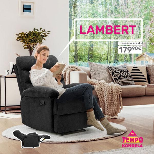 Súťaž o masážne polohovacie kreslo LAMBERT v hodnote 179,90 €!