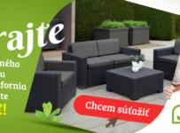 Súťaž o set záhradného nábytku v hodnote 350€