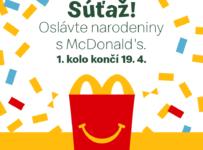 Súťaž o tortu, občerstvenie a prekvapenia od McDonald's