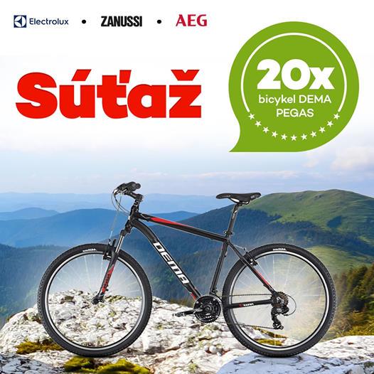 Súťaž o 20X bicykel Dema Pegas