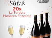 Súťaž o 20x La Tordera Prosecco Frizzante